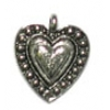 Pendant Heart Antique Pewter